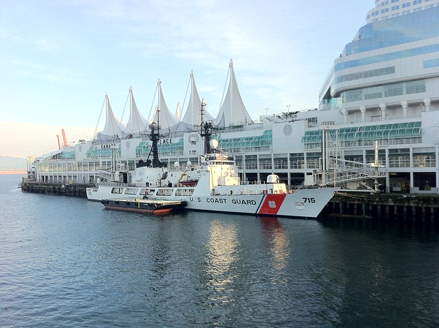 U.S. Coast Guard at Canada Place