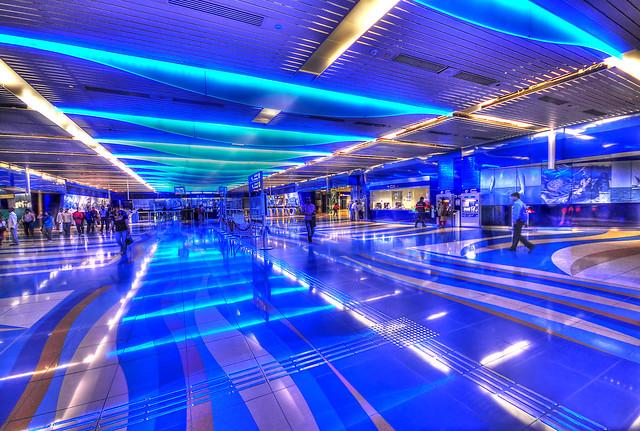 Dubai Metro station Khalid Bin Al Waleed