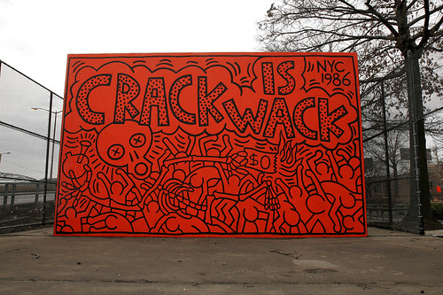"Keith Haring - ""Crack Is Wack"" Mural"
