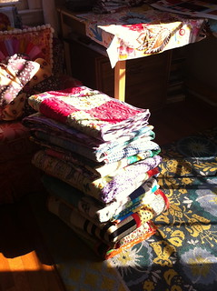 Stacked Rainbow Quilts