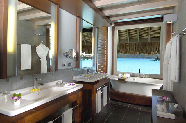 InterContinental Bora Bora Resort & Thalasso Spa overwater villas' bathroom