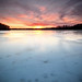 Icy Lake Sunset