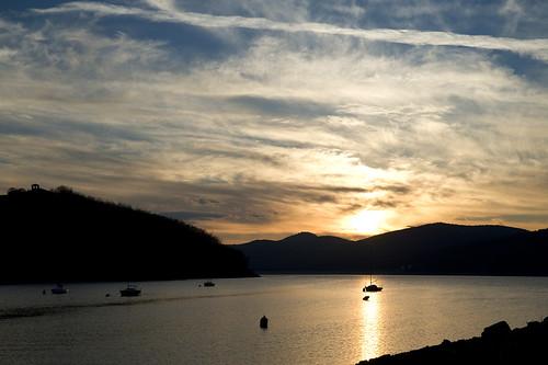 lago tramonto montedoglio