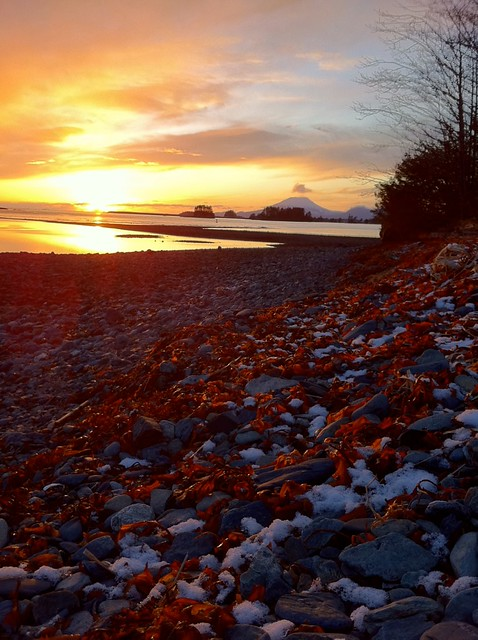 Sunset at Totem Park, Sitka, AK