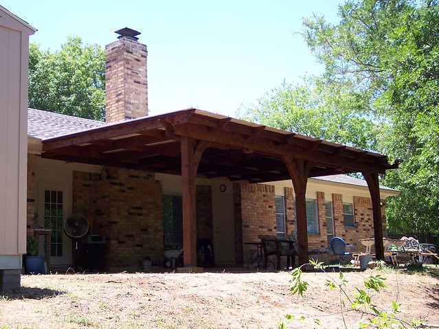 Metal Roof Patio Cover Cedar Frame Flickr Photo Sharing