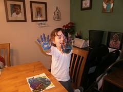 Lexi Finger Painting