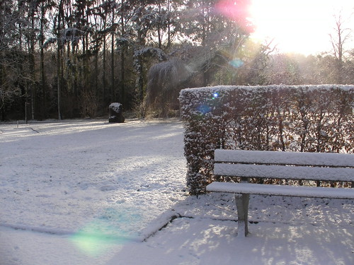 Enghien sous la neige