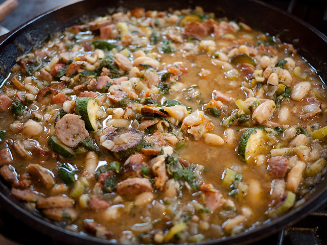 White bean, sausage and chard stew | Flickr - Photo Sharing!
