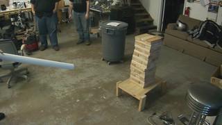 air cannon vs oversized jenga