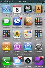 Google Voice App notification on iPhone