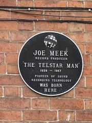 Photo of Joe Meek black plaque