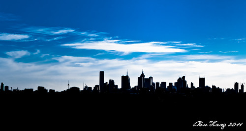 Melbourne City Silhouette