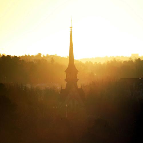 morning tower church sunrise square sweden stockholm schweden torn sverige viewfromhome suede kyrka nacka 2011 kicki kyrktorn finntorp svenskaamatörfotografer kh67