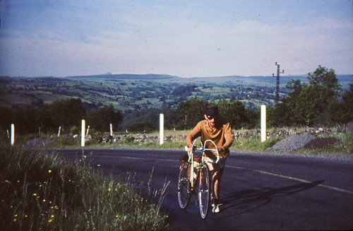 1964 (age 21)  -  3rd Year at Exeter in Bordeaux : June : Bike Adventure
