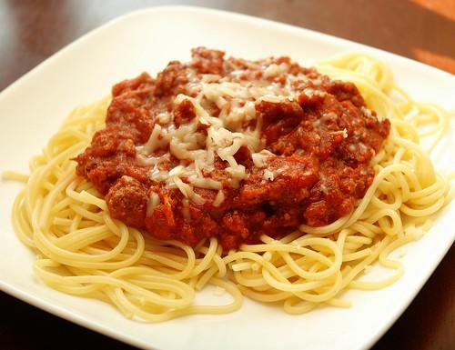 easy recipes - meaty spaghetti