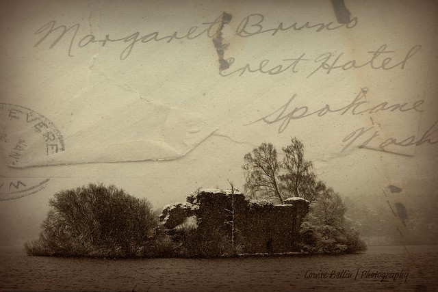 Abandoned Castle on an Abandoned Island - vintage style!