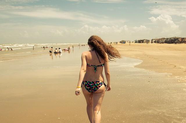 cachados en la playa