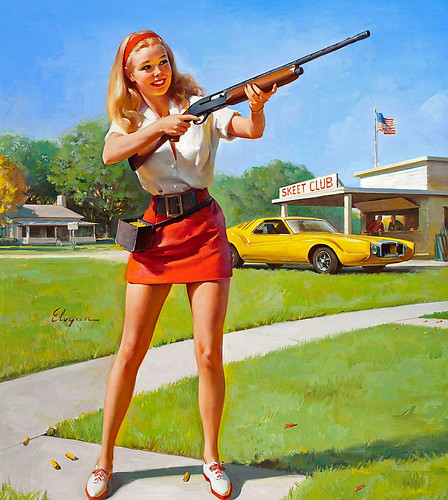 1974 ... nice girls have shotguns! by x-ray delta one