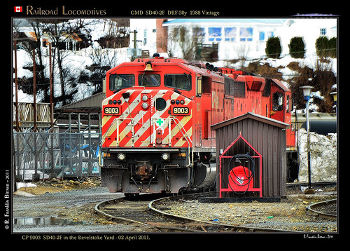 canada bc trains railways cpr revelstoke locomotives sd402f revybawb
