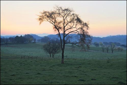 morning sky rural photoshop sunrise dawn nikon tennessee alcoa blountcounty d5000 pse9
