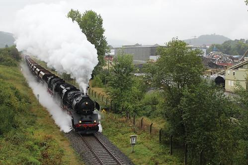2016-09-17; 266. Loc 50 3648-8 en ZL 50 1380-0 (Meininger 50 3501) met Guterzug 407. Walldorf.