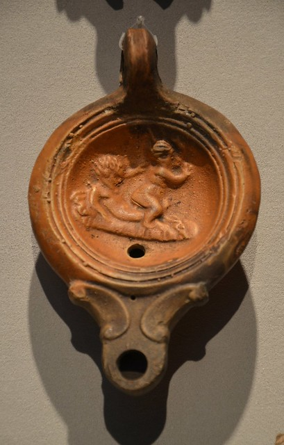 Roman Oil Lamp with Erotic Motif, Altes Museum Berlin