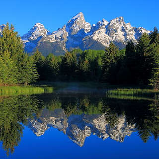 IMG_7766 Reflection of the Tetons, Schwabacher Landing, Grand Teton National Park