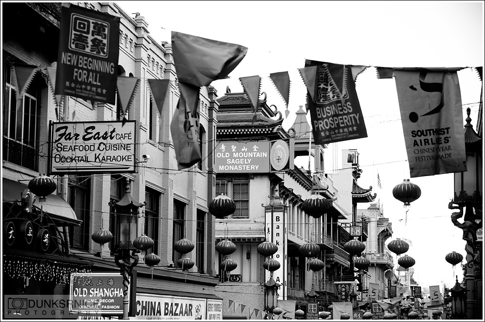 Chinatown, San Francisco B&W.