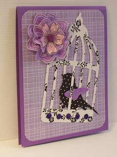 lavender embossed flower