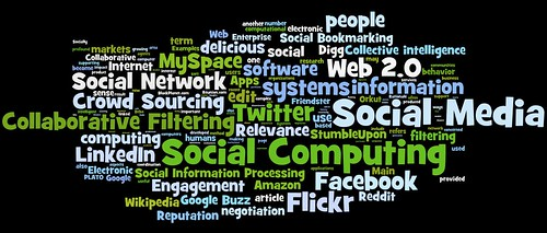Photo:social media, social networking, social computing tag cloud (#2) By:daniel_iversen
