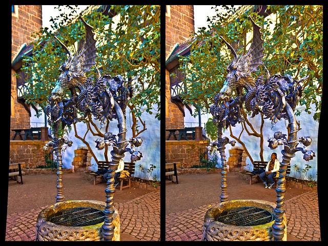 Dragon's Well :: Stereoscopic Cross Eye 3D ::