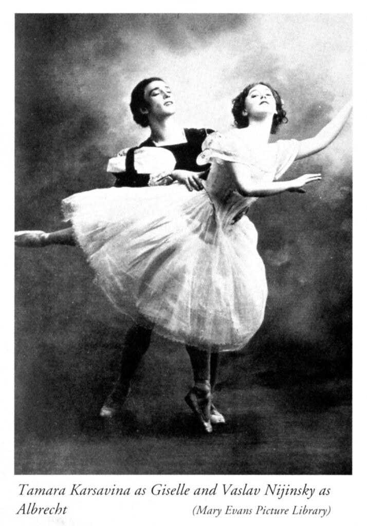 Tamara Karsavina and Vaslav Nijinsky in Giselle Act II - Ballets Russes 1910 3