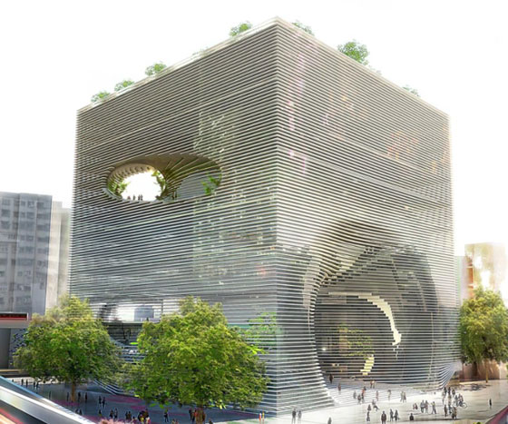 Ted Cube building in Taiwan by BIG Archtiects