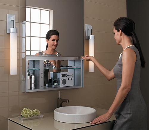 Espejo gabinete de medicina y belleza tecnodiva for Espejo que se abre