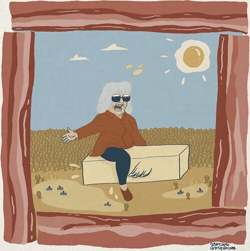 Paul Deen riding butter
