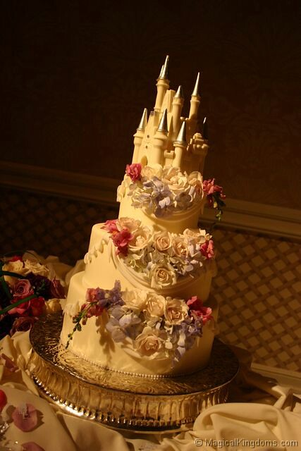 Disney wedding cake by magicalkingdoms