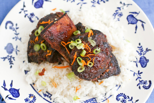 Braised Short Ribs with Cranberry-Teriyaki Glaze