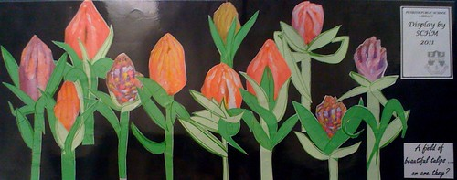 Tulip hands frieze by SCHP, 2011