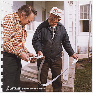 Looking at strip chart with local [resident] Goldsboro, Pennsylvania , 04/04/1979