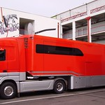 Mercedes-Benz Actros wearing the Scuderia Ferrari logo