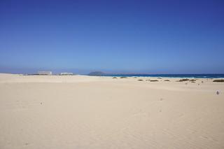 Obraz Playa De Las Agujas Piaszczysta plaża. nature sunshine sand dunes fuerteventura kanaren natur bluesky blauerhimmel sonnenschein corralejo islandtour 2011 wanderdünen inselrundfahrt saharagefühl