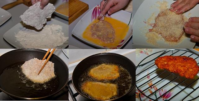 Tonkatsu preparación