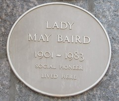 Photo of May Baird yellow plaque