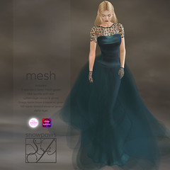 Snowpaws - Guipure Pale Blue Gown with appliers