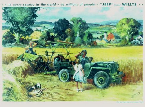 jeep Farming Poster Ad by lee.ekstrom