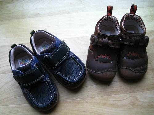 Milestone: Graduating from cruising shoes to toddler shoes