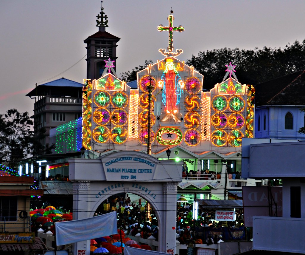 Its Festive Time in Kerala... St. Mary's Church, Parel Changanacherry on the Eve of The Feast Day....