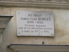 Photo of Jorge Luis Borges marble plaque