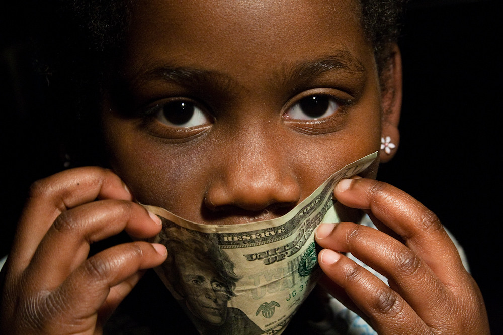 Girl Holding $20 Bill Over her Mouth Bankroll Girls February 08, 20116