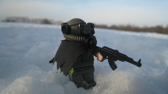 Russian Soldier in the Snow